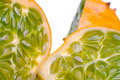 Juicy Sliced Horned Melon Royalty Free Stock Photography