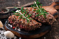 Juicy steak medium rare beef Royalty Free Stock Photo