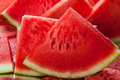 Juicy watermelon slices of closeup Royalty Free Stock Photo