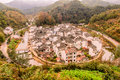 Jujing village ju keng is the famous ancient in jiangxi Stock Photo