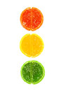 Jujube traffic lights Royalty Free Stock Photography