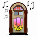 Juke box isolated white background Royalty Free Stock Photo