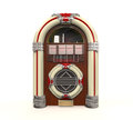 Juke box radio isolated on white background d render Royalty Free Stock Images