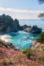 Julia pfeiffer state park under a blue sky in california Stock Photo