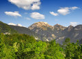 Julian alps slovenia triglav national park Stock Image