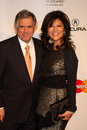 Julie chen les moonves los angeles feb arrives at the muiscares gala honoring barbra streisand at convention center on february in Stock Images