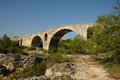 Julien bridge in bonnieux in provence france le pont Stock Photography