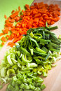 Julienne Vegetables Royalty Free Stock Images