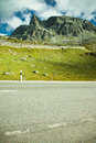 Julier Mountian Pass in Swiss Alps near St. Moritz Stock Photo