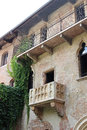 Juliet s balcony in verona italy view of romeo and it is at a house that claims to have been the capulet and is a major tourist Royalty Free Stock Photo