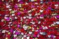 Juliet`s House In Verona, Italy. Many colourful love padlocks at the wall of Juliet`s house, Verona, Italy. romantic pattern Royalty Free Stock Photo