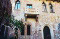 Juliet statue with her balcony house in Verona, Italy Royalty Free Stock Photo