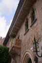 Juliets balcony in verona italy capulet house northern is a city northern which features shakespeares tragedy romeo and juliet Royalty Free Stock Photography