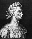 Julius caesar bc bc on engraving from roman general statesman consul and notable author of latin prose engraved by unknown and Stock Image