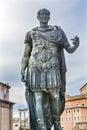 Julius Caesar Statue Roman Forum Rome Italy Royalty Free Stock Photo