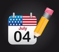 July 4 Royalty Free Stock Photography