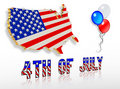 July 4th 3D Patriotic clip art designs Royalty Free Stock Photo