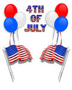 July 4Th background clip art Royalty Free Stock Photo