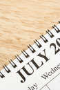 July on calendar. Royalty Free Stock Images