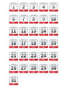 July Calendar Icons Royalty Free Stock Photos