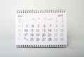 July. Calendar of the year two thousand seventeen. Royalty Free Stock Photo