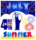 July Events Clip Art Set/eps Royalty Free Stock Photo