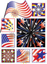 July Fourth Celebrations-Gradient Colors Stock Photos
