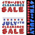 July fourth clearance sale signs an image of d Royalty Free Stock Photos