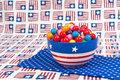 July Fourth Gumballs Royalty Free Stock Photos