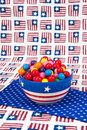 July Fourth Gumballs Stock Images
