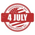 July independence day stamp Stock Image