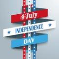4 July Ribbon Stripes Royalty Free Stock Photo
