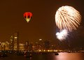 July th firework in chicago lake shore Stock Photo