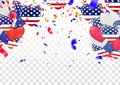 4 of July USA Independence Day. Abstract holiday celebration vector white background