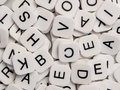 Jumble letters pile tiles Stock Photo
