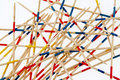 Jumbled wooden sticks Royalty Free Stock Photo