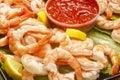 Jumbo Cooked Shrimp Royalty Free Stock Photo
