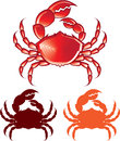 Jumbo crab vector illustration clip art Stock Photography