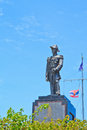 Jumborn prince there is also a black statue of the father of the royal thai army at pattaya hill thailand Stock Images