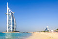 The jumeirah beach and burj al arab hotel tower of arabs is a luxury located in dubai united emirates it is world s only star Royalty Free Stock Photography