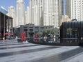 Jumeirah Beach Residence buildings Royalty Free Stock Photo