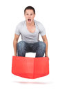 Jump out of the box Stock Images