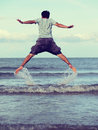 Jump to the freedom Royalty Free Stock Photo