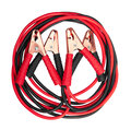 Jumper cables isolated on white Stock Photos