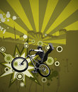 Jumping biker Royalty Free Stock Image