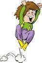 Jumping boy Royalty Free Stock Photo