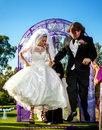 Jumping The Broom Royalty Free Stock Photo