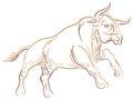 Jumping bull