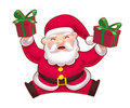 Jumping Cute Santa Royalty Free Stock Photo