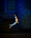 """Jumping the genie of the lamp- ballet """"One Thousand and One Nights"""" Royalty Free Stock Photo"""